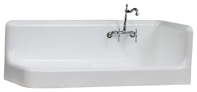 Corner Utility Sink : ... Right Hand Corner Cast Iron Farmhouse Sink - Farmhouse - Utility Sinks
