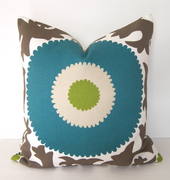 Decorative Designer Indoor / Outdoor, Suzani Pillow Cover By Loubella1 - Eclectic - Decorative ...