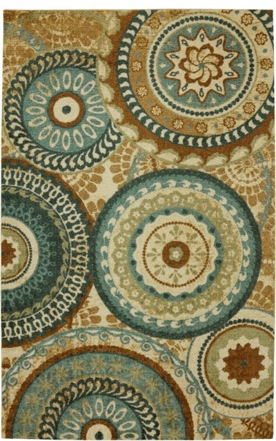 Strata Forest Suzani Multi Transitional 8' x 10' Mohawk Rug (11748) transitional-rugs