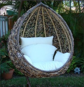 Egg Swing Chair contemporary-outdoor-lounge-chairs