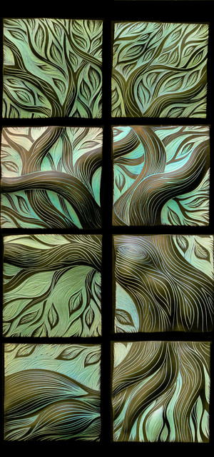 Live Oak, glazed in turquoise contemporary artwork