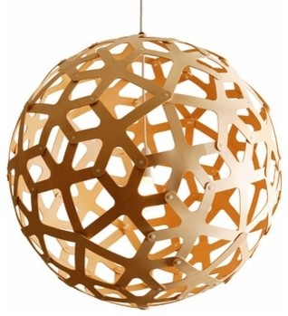 David Trubridge Design  Coral Pendant - Natural modern pendant lighting