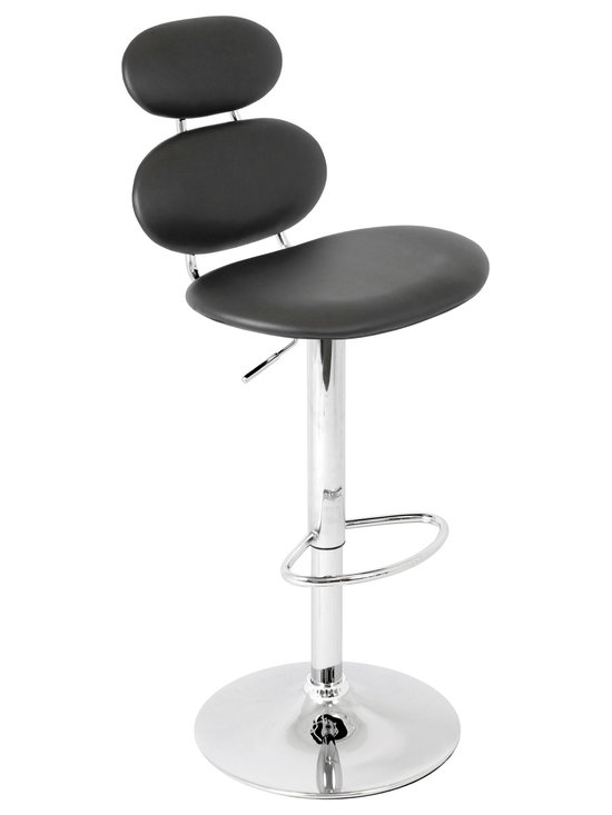 Segment Bar Stool - BLACK