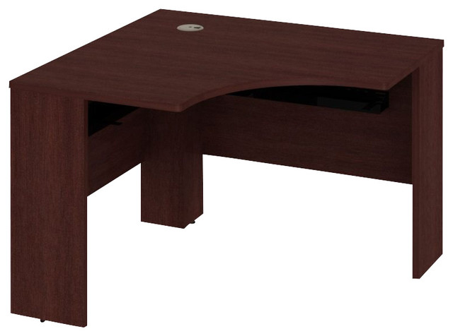 """Bush Quantum 42""""W x 42""""D Universal Corner Desk in Harvest Cherry transitional-office-carts-and-stands"""