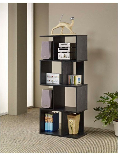 Celeste Wood Display Bookcase - Modern - Bookcases - by Brookstone