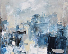 Night City 11 x 14 by Linda Donohue-sold contemporary-artwork