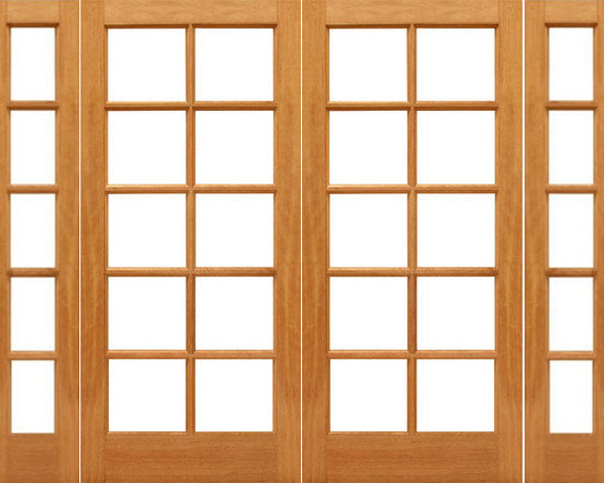 "Pre-hung 10-lite French Brazilian Mahogany IG Glass Double Door Sidelights - SKU#    10-lite-Ext-2-2Brand    AAWDoor Type    FrenchManufacturer Collection    Mahogany French DoorsDoor Model    Door Material    WoodWoodgrain    MahoganyVeneer    Price    1968Door Size Options    2(24"")+2(14"") x 80"" (6'-4"" x 6'-8"")  $02(24"")+2(18"") x 80"" (7'-0"" x 6'-8"")  $02(28"")+2(14"") x 80"" (7'-0"" x 6'-8"")  $02(28"")+2(18"") x 80"" (7'-8"" x 6'-8"")  $02(30"")+2(14"") x 80"" (7'-4"" x 6'-8"")  +$202(30"")+2(18"") x 80"" (8'-0"" x 6'-8"")  +$202(32"")+2(14"") x 80"" (7'-8"" x 6'-8"")  +$202(32"")+2(18"") x 80"" (8'-4"" x 6'-8"")  +$202(36"")+2(14"") x 80"" (8'-4"" x 6'-8"")  +$202(36"")+2(18"") x 80"" (9'-0"" x 6'-8"")  +$20Core Type    SolidDoor Style    Door Lite Style    Full Lite , 10 LiteDoor Panel Style    Ovolo StickingHome Style Matching    Craftsman , Colonial , Cape Cod , VictorianDoor Construction    Engineered Stiles and RailsPrehanging Options    PrehungPrehung Configuration    Double Door with Two SidelitesDoor Thickness (Inches)    1.75Glass Thickness (Inches)    1/2Glass Type    Double GlazedGlass Caming    Glass Features    Insulated , Tempered , low-E , Beveled , DualGlass Style    Clear , White LaminatedGlass Texture    Clear , White LaminatedGlass Obscurity    No Obscurity , High ObscurityDoor Features    Door Approvals    FSCDoor Finishes    Door Accessories    Weight (lbs)    1190Crating Size    25"" (w)x 108"" (l)x 52"" (h)Lead Time    Slab Doors: 7 daysPrehung:14 daysPrefinished, PreHung:21 daysWarranty    1 Year Limited Manufacturer WarrantyHere you can download warranty PDF document."