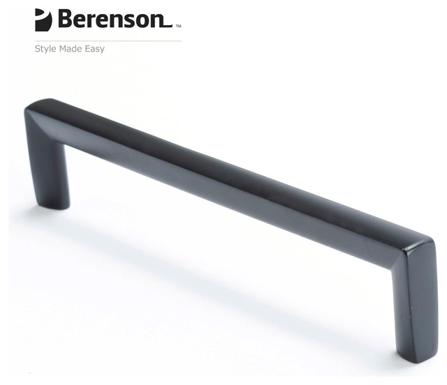 4121-1055-P Black Cabinet Pull by Berenson - Modern - Cabinet And Drawer Handle Pulls - other ...