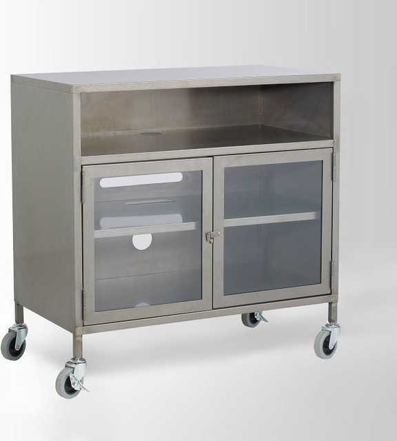 Industrial Metal TV Cart - Modern - Entertainment Centers And Tv Stands - by West Elm