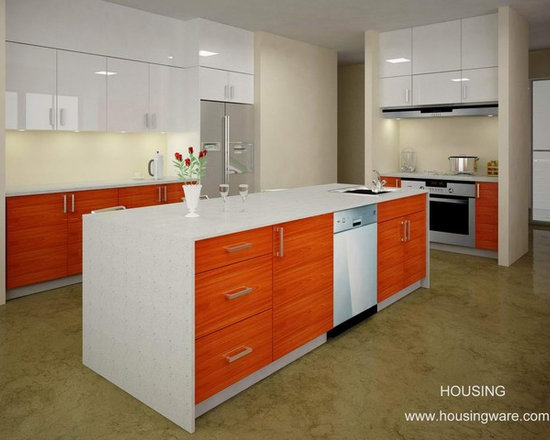 kitchen cabinet 015 - design free, customized, top quality, with bench top and top stainless steel sink