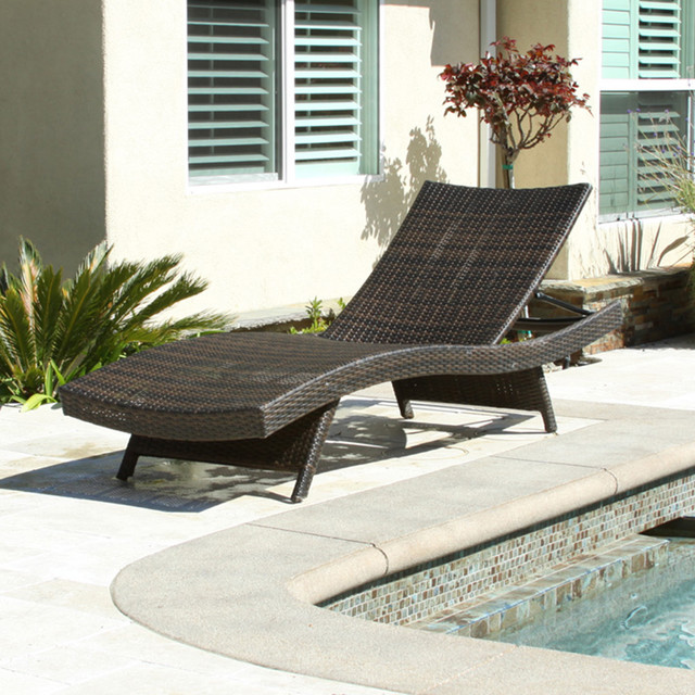 Christopher knight home toscana outdoor brown wicker for Brown chaise lounge outdoor