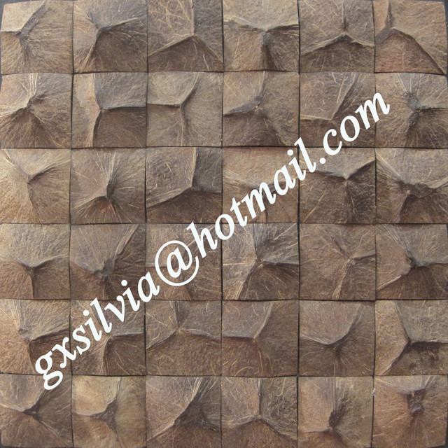 Coconut mosaic  tiles modern-tile