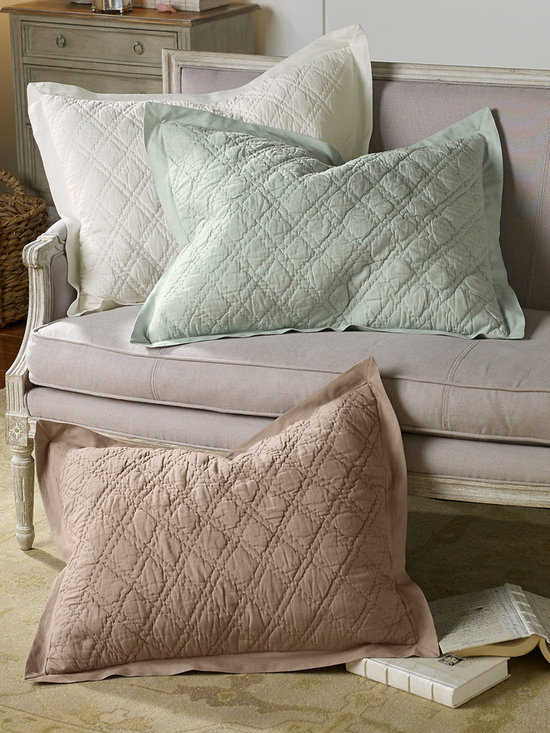 Diamond Quilted Bed Sham - This item is part of the Soft Surroundings Basics Collection.