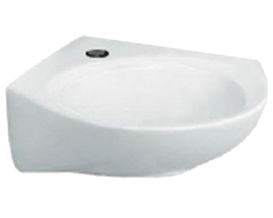 """American Standard - American Standard 0611.001.020 Cornice Pedestal Sink, White - American Standard 0611.001.020 Cornice Pedestal Sink, White. This corner mounted pedistal sink is designed with a vitreous china construction, with twin front concealed overflows. The back rim slants towards the basin for quick drainage, and it comes supplied with a wall hanger. This model comes with a single centered faucet mounting hole, and measures 15-1/2"""" by 15-1/2"""", with a 6-1/2"""" bowl depth."""