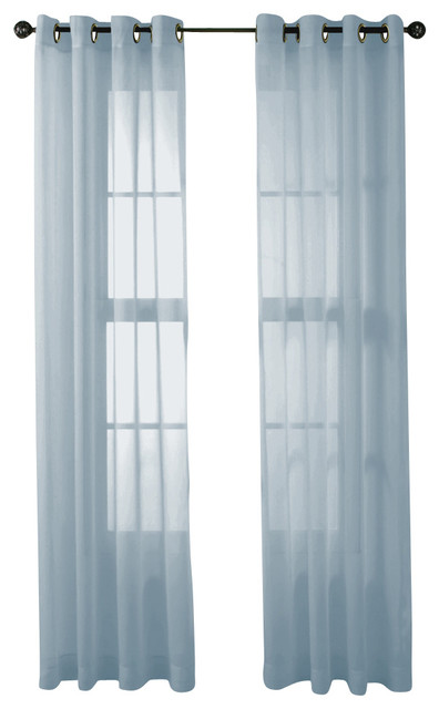 Hlc Me 2 Piece Sheer Window Curtain Grommet Panels Light