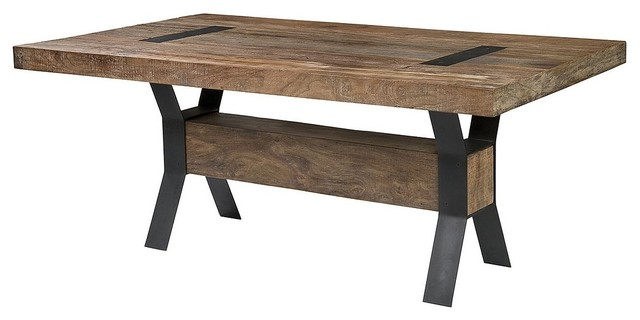 Industrial Dining Table - Rustic - Dining Tables - by Zin Home
