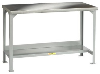 Little Giant Welded Steel Workbench with Stainless Steel Top
