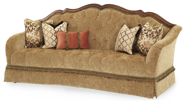 Villa Valencia Tufted Sofa Traditional Sofas By