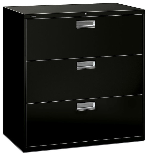 Brigade 600 3-Drawer Lateral File - Contemporary - Filing Cabinets And Carts - by SmartFurniture