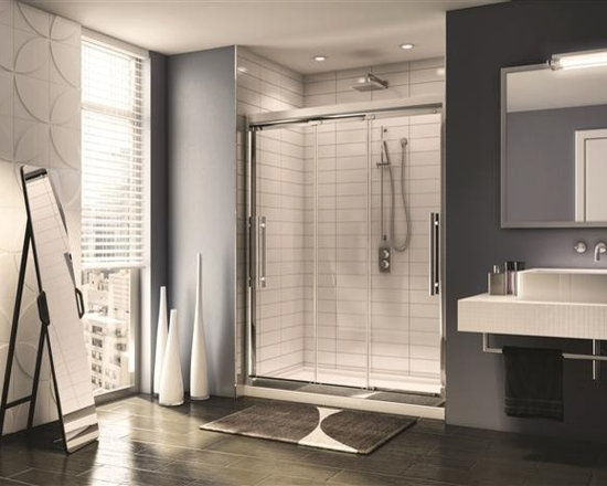 Fleurco Banyo Treviso Shower 60 Frameless In-Line Sliding Door ETR160 - Deluxe anti-jump smooth rolling system