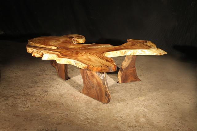 Beautiful Perfect Hawaiian Monkey Pod Coffee Table Contemporary Coffee Tables .