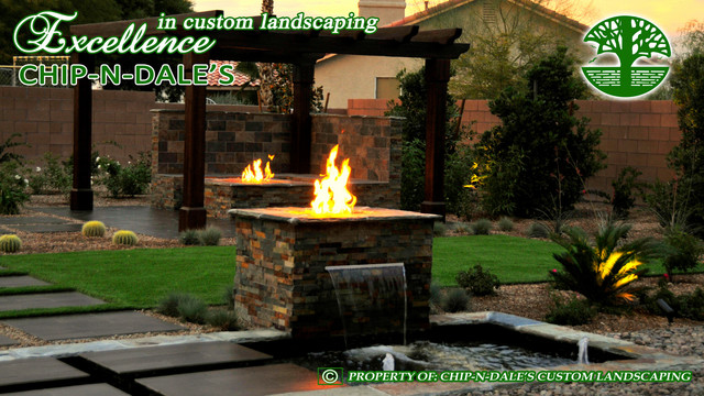 CHIP-N-DALE'S CUSTOM LANDSCAPING contemporary-landscape
