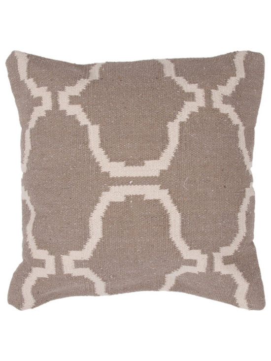 Jaipur - Cadiz Pillow Set of 2 - Hand woven from 100% cotton the Cadiz pillow collection offers a range of open geometrics in bold color combinations. The collection coordinates with Jaipur Maroc and Urban bungalow flat weave rugs.