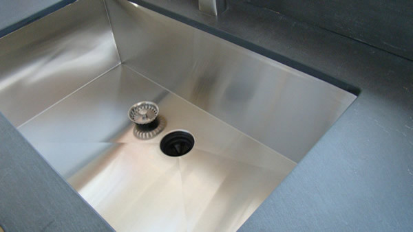 Zero Radius Seamless Undermount Kitchen Sink contemporary kitchen sinks