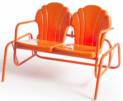 Modern Outdoor Gliders by Retro Metal Chairs