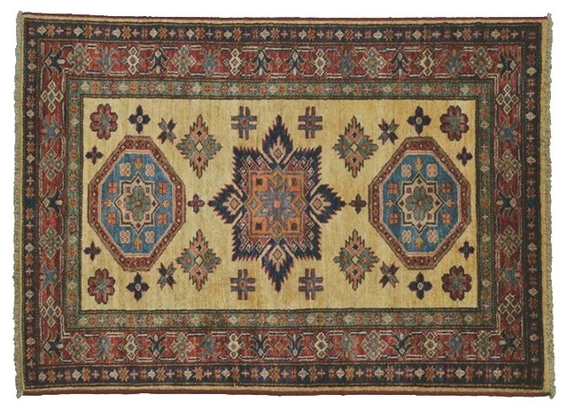 Super Kazak Oriental Rug Hand Knotted Rug Tribal Design Sh7564 traditional-area-rugs