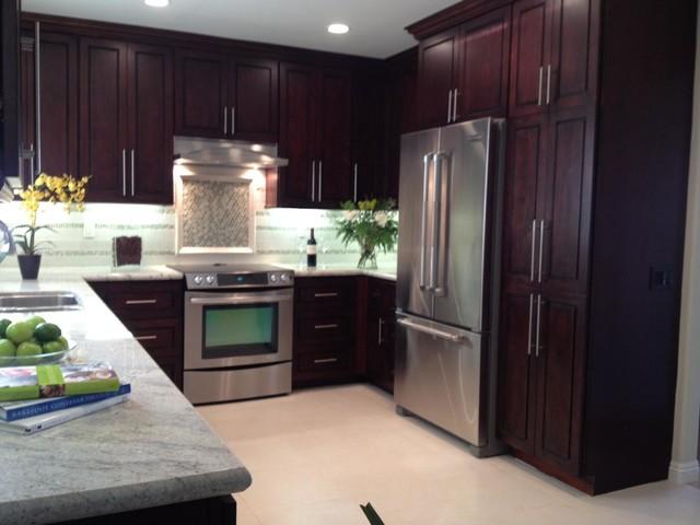 Chocolate Door Style Kitchen Modern Kitchen Cabinetry