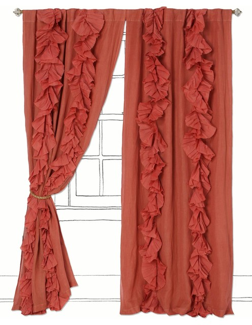 Wandering Pleats Curtain eclectic curtains