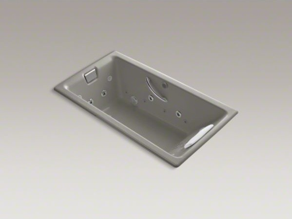 """KOHLER Tea-for-Two(R) 66"""" x 36"""" drop-in Effervescence + whirlpool with spa/massa contemporary-bathtubs"""