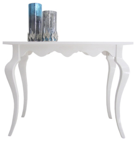 White high gloss console table modern console tables
