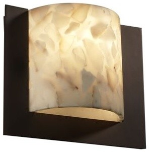 Alabaster Rocks! Framed Square Wall Sconce contemporary-wall-lighting