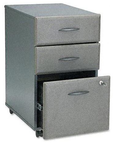 3 Drawer File Cabinet w Double Lock - Series contemporary ...