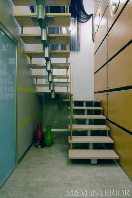 City flat contemporary-staircase
