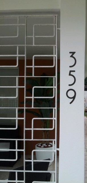 Puerto Rico Tropical Curb Appeal contemporary-house-numbers