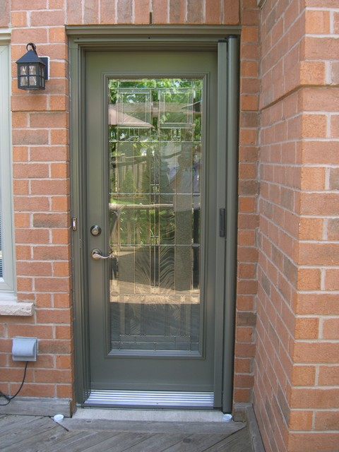 Entry door retractable screens contemporary screen for Sliding screen door canada