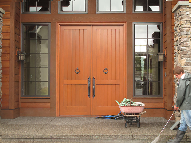 Entry Door Stain Refinish asian-entry