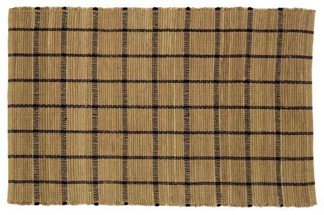 Burlap Woven Rug Natural Burlap Check Rustic Rugs
