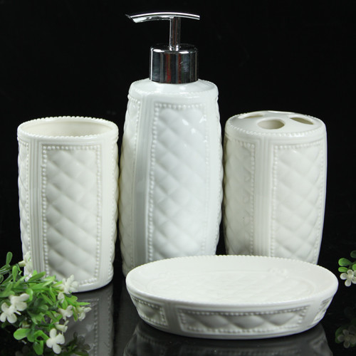 New european style top grade ceramic bath accessory sets for Best bathroom accessory sets