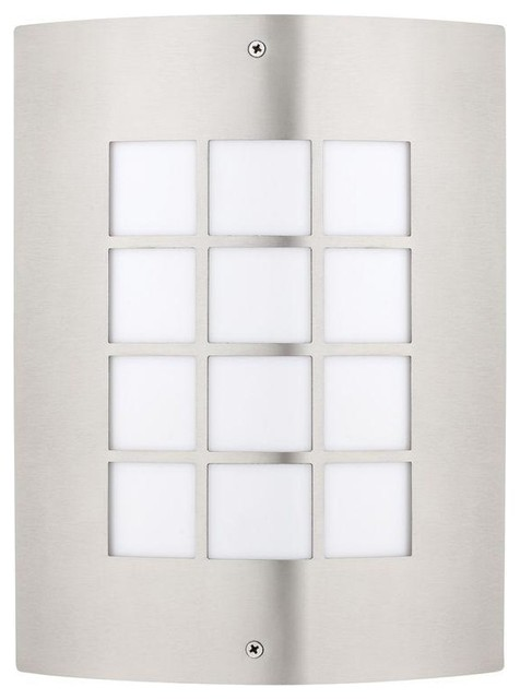 Globe Electric Wall Mounted Artex Wall Mount Outdoor Stainless Steel Light contemporary-outdoor-wall-lights-and-sconces
