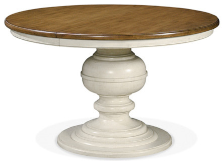 Hill Two Tone Round Pedestal Dining Table Traditional Dining Tables