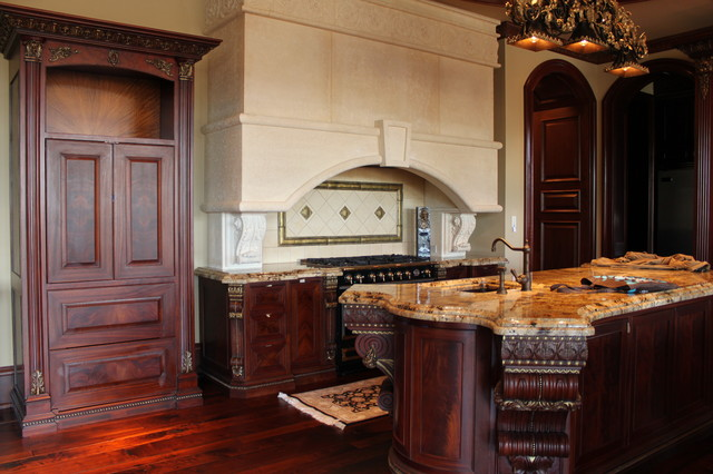 Custom Mahogany Kitchen Traditional Charlotte By Hartley Design Group