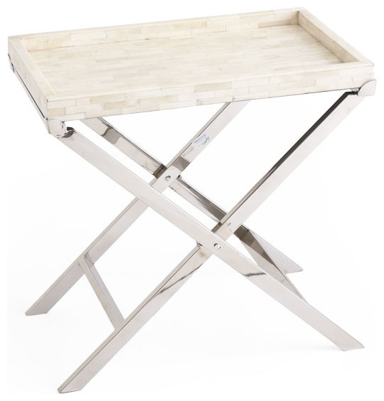 Bone Tray Folding Table Traditional Side Tables And