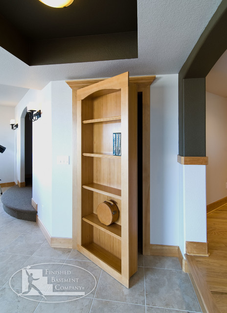 Basement hidden storage traditional basement denver by finished basement company - Finished basement storage ideas ...