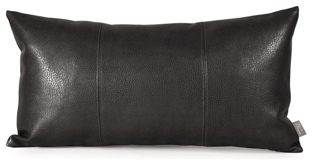 Sultry Black Kidney Pillow contemporary-pillows