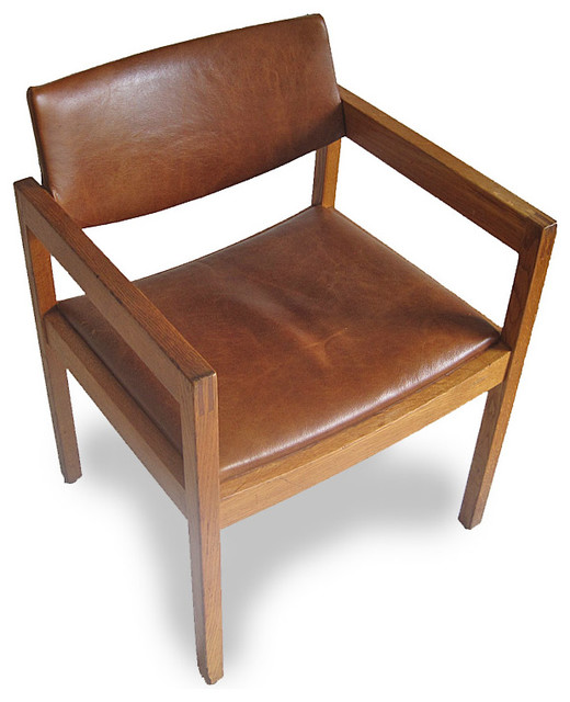 Mid-Century Leather Gunlocke Chair - Midcentury - Armchairs And Accent Chairs - other metro - by ...