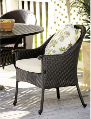 Set of 2 Amalfi Wicker Arm Chairs contemporary-outdoor-lounge-chairs